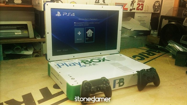 Guy combines PS4 and Xbox One into a laptop, calls it PlayBox