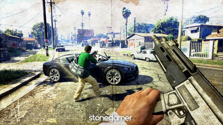 Oh wow, GTA V for Xbox One and PS4 can be played as a first-person shooter